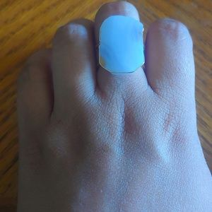 Rectangular Stone Ring- Periwinkle